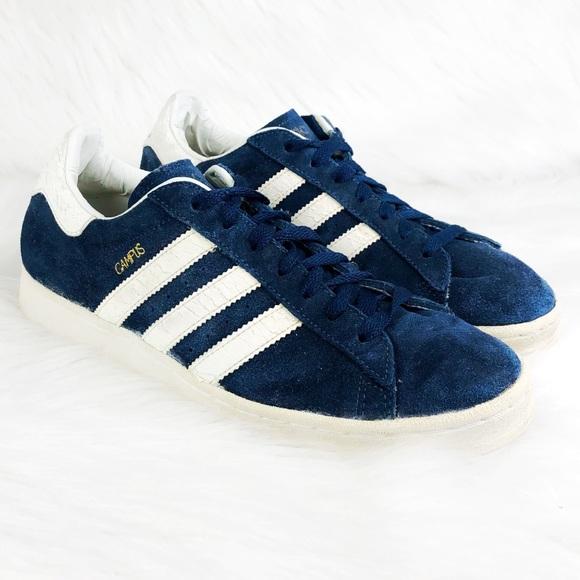 Adidas Campus Blue Suede White Stripes